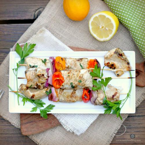 Fish Skewers with Vegetables