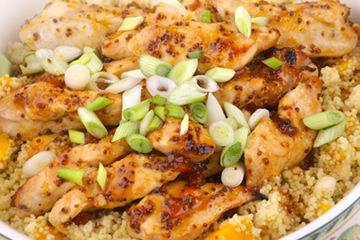 Moroccan Chicken With Olive and Fruit Couscous. Great for post-workout protein and healthy carbs.